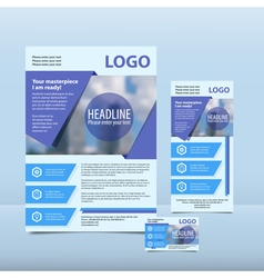 Blue annual report vector