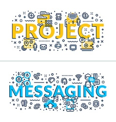 Project and messaging headings titles horizontal vector