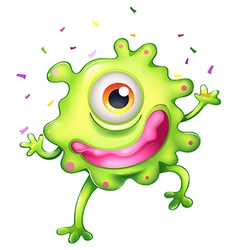 A successful green monster vector image vector image