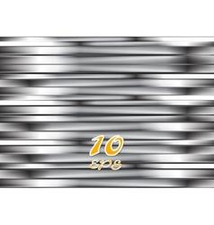 Abstract silver metallic stripes vector