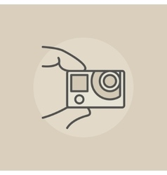 Action camera colorful icon vector