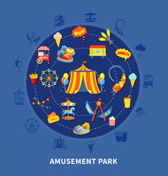 Amusement park set vector