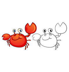 Animal outline for little crab vector