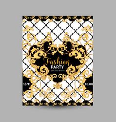Baroque fashion decorative design poster vector