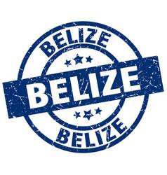 Belize blue round grunge stamp vector