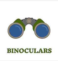 Birdwatching Travel Binocular Outline Icon vector image