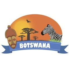 Botswana vector image vector image