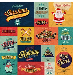 christmas set tex vector image vector image