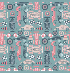 classic sport cars background vector image vector image
