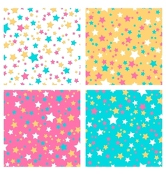 Collection of 4 seamless textures vector image vector image
