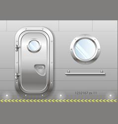 door and window of the ship vector image