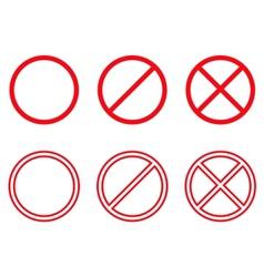 Forbidden vector image vector image