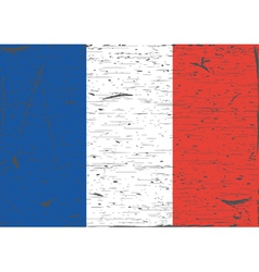 France flag grunge vector image