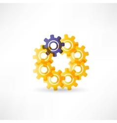 Gears into circle icon vector image