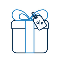 Giftbox present with percent tag vector