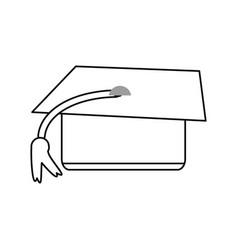 graduation hat kawaii cartoon vector image vector image