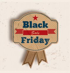 Grunge badge for black friday sale vector
