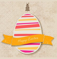 Happy easter vintage card vector