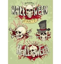 Happy halloween emblem vector