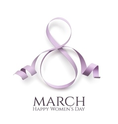 March 8 womens day background vector