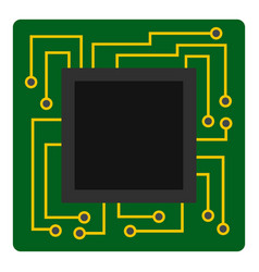 Microchip icon isolated vector