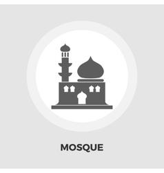 Mosque icon flat vector