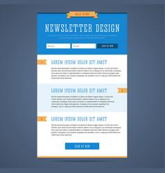 Newsletter page design vector