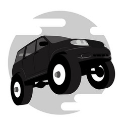 Off road vehicle car logo vector