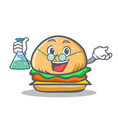 professor burger character fast food vector image vector image