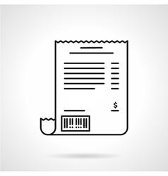 Receipt black line icon vector