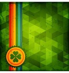 Saint Patricks Day abstract grunge background vector image vector image