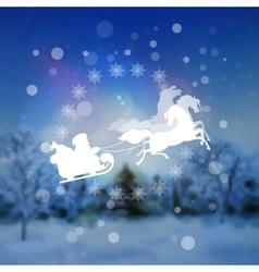 Santa Riding Sleigh Christmas Background vector image vector image