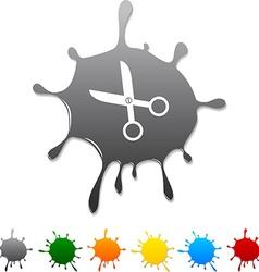 Scissors blot vector