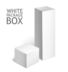 Set Of White Package Box Mockup Template vector image vector image