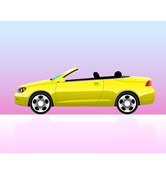 Sport convertible car icon vector