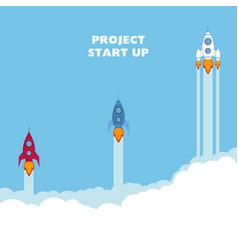 start up rocket ship vector image vector image