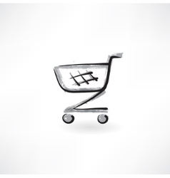trolley grunge icon vector image