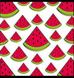 Watermelon pattern fresh fruit drawing icon vector