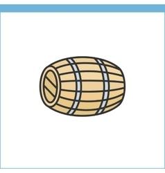 Wood wine cask icon vector