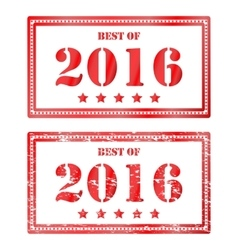 Red rubber stamp Best of 2016 Icon clearance sale vector image