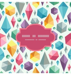Hanging geometric shapes frame seamless pattern vector
