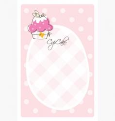 cupcake template vector image