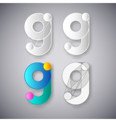 Abstract combination of letter g vector