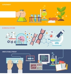 Science and research banner set vector