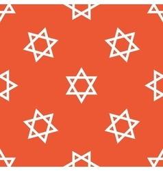 Orange star of david pattern vector