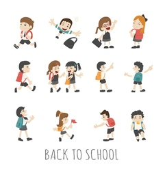 Back to school  pupils in school uniform  eps10 vector