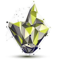 Contemporary technical asymmetric stylish vector