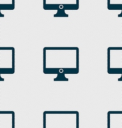 Computer widescreen monitor sign icon seamless vector