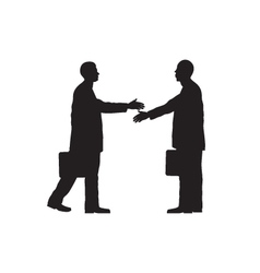 Black silhouettes of two businessmen vector