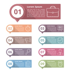 Design elements with numbers and icons vector